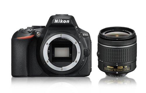 Nikon D5600 z obiektywem 18–55 mm VR 18-55 mm