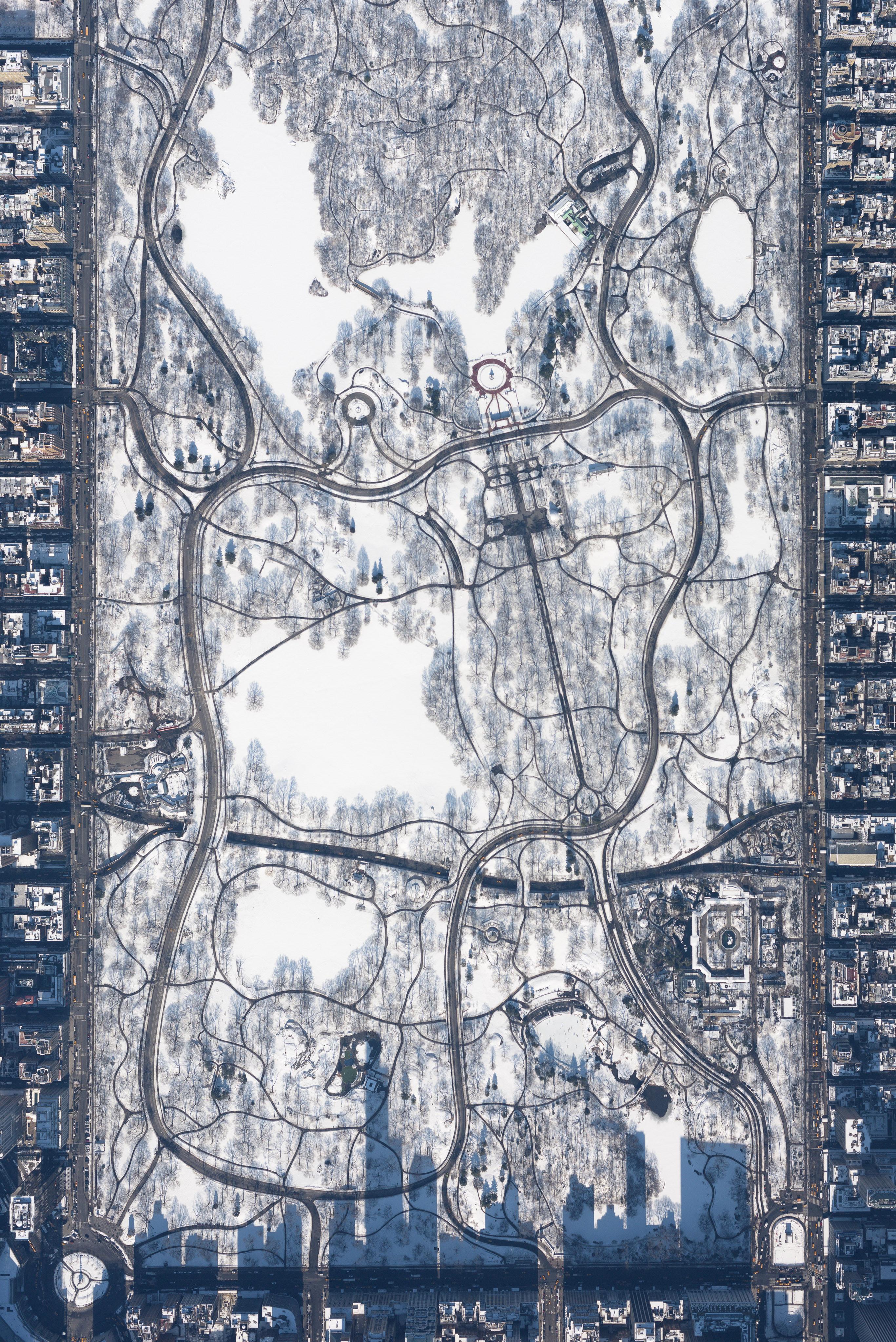 Śnieżny Central Park z 10 tysięcy stóp, fot. Filip Wolak